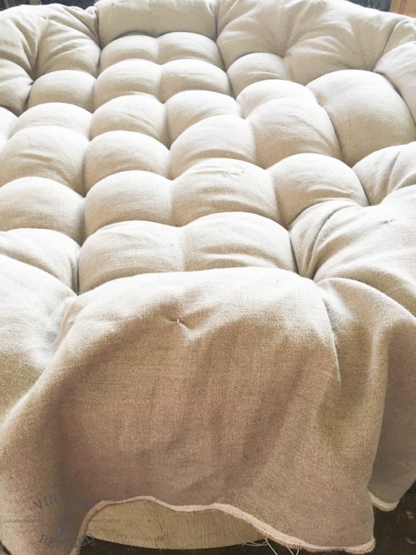 tufted upholstered ottoamn
