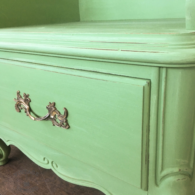 French Provincial Nightstands painted in a custom blend of Annie Sloan Chalk Paint currently available in my Etsy shop