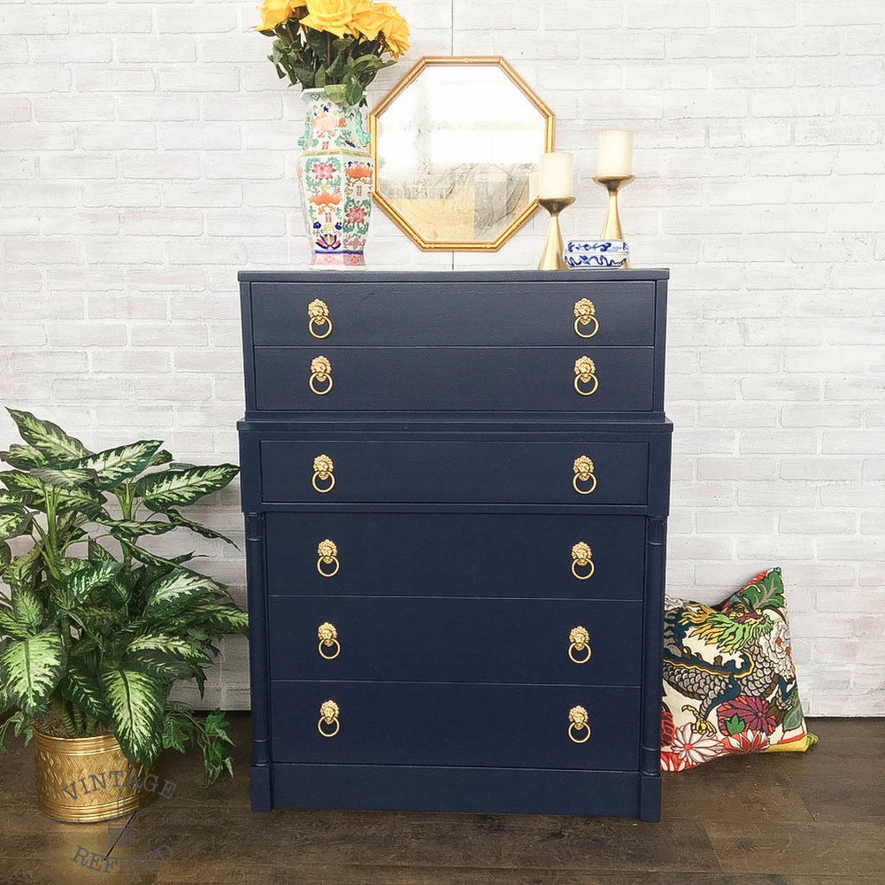 navy lacquer chest