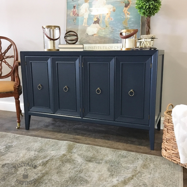 Navy lacquer buffet