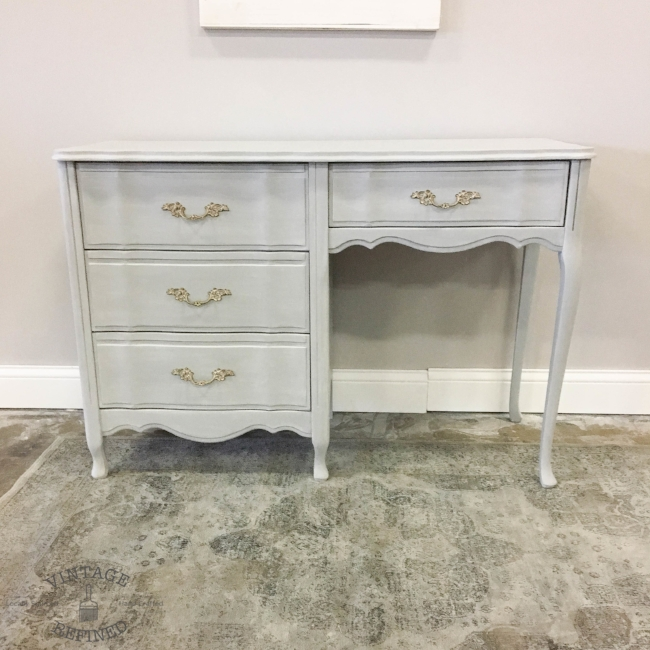 Grey French Provincial desk