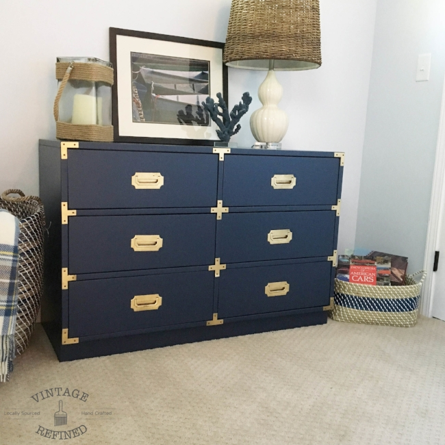 Custom finished campaign dresser by Bernhardt