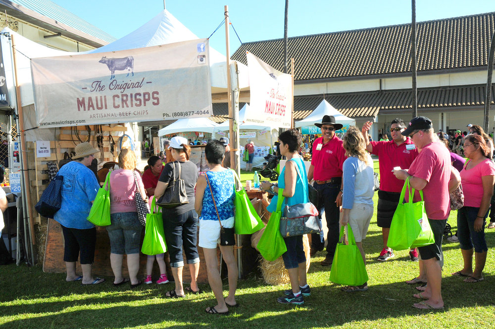 "Blaine Apo of Maui Crisps shared, ""Participating in the Made in Maui County Festival has brought us such great success. Our company really got out there to the public and our sales grew by more than 100 percent."""