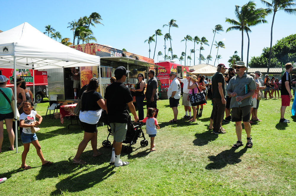 On Saturday, a total of 12 food trucks offered a diverse menu of island cuisine in the Festival's Food Court.
