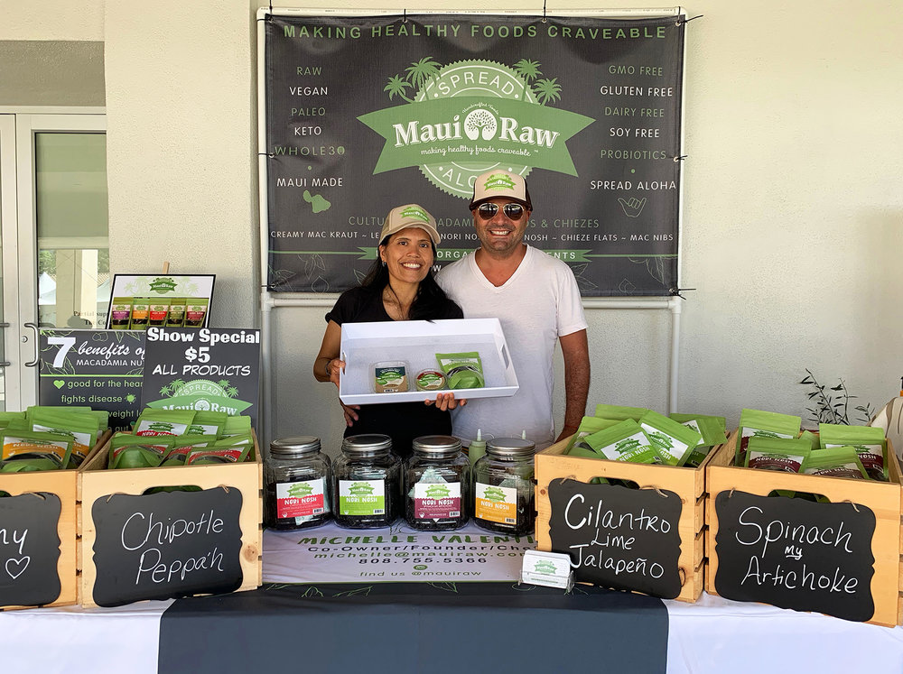 "Michelle Valentin of Maui Raw LLC captured 1st place in the 2018 Made in Maui County Festival Best New Food Product Contest sponsored by Minit Stop for her Cultured Macadamia Spread, Chimichurri Flavor. ""This award means a lot. I'm passionate about introducing people to raw foods and showing how healthy, versatile and healthy it is."""