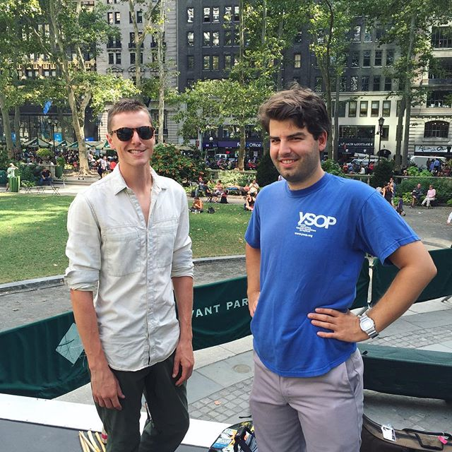 Jas and Nick, both were there playing our first show at Tutuma in 2009 ✌️ @bryantparknyc 9pm tonight