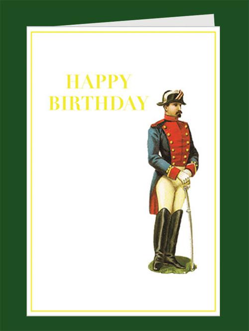 Birthday Soldier Greeting Card Tartan And Zebra