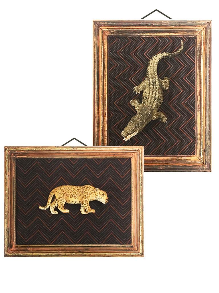 Cuadritos con cocodrilo y leopardo tridimensional.jpg