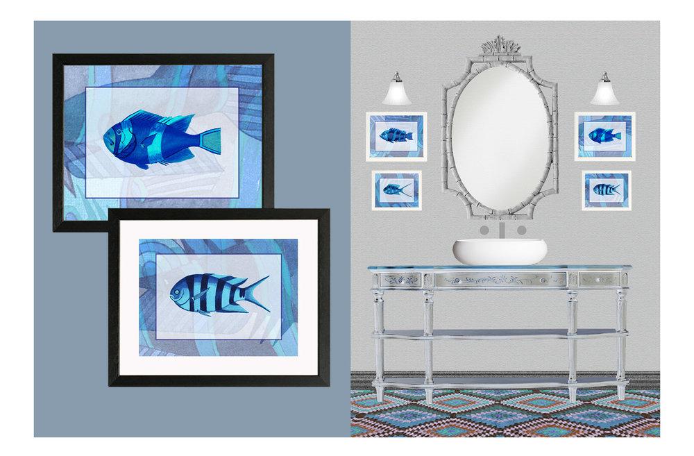 decorative prints of blue fish.jpg