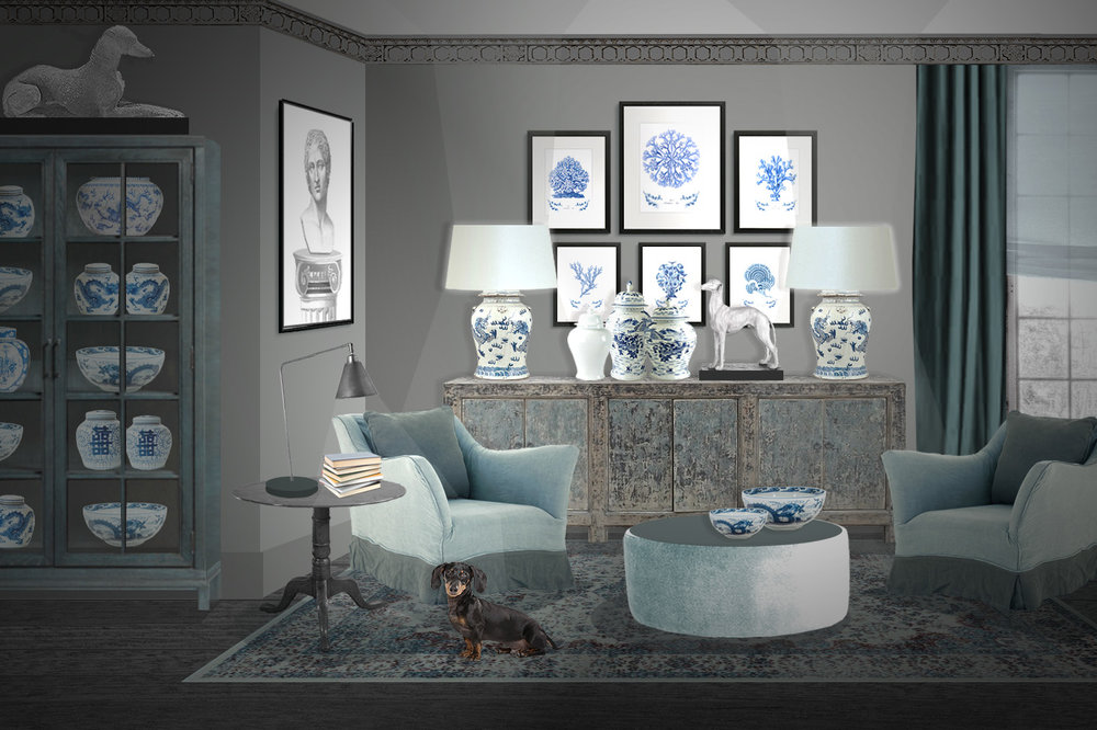decorative prints with blue corals and algaes.jpg