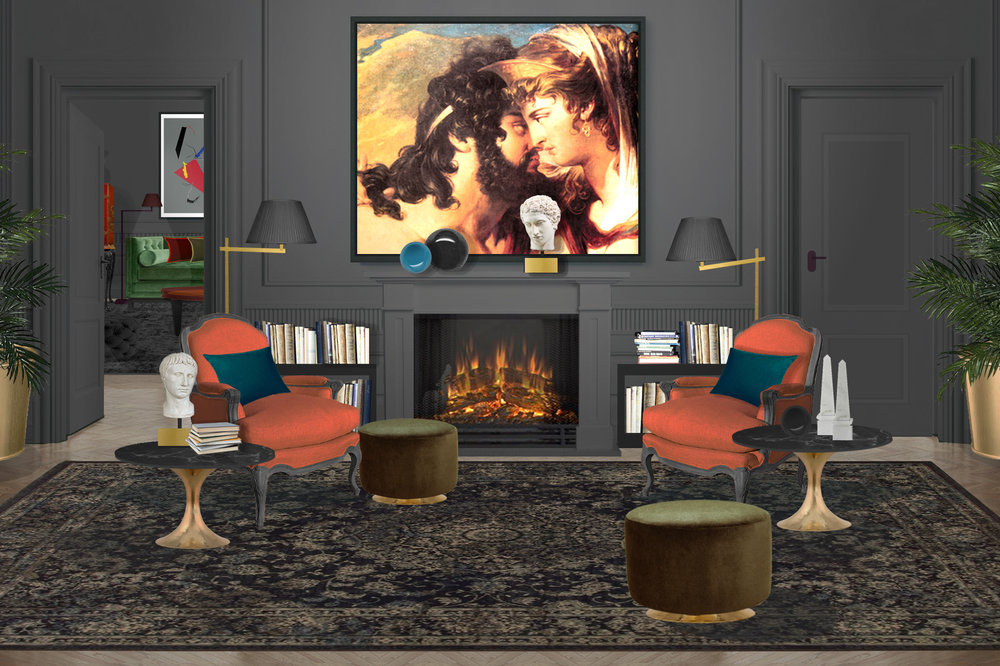 Splendid calid interiors with original art prints.jpg
