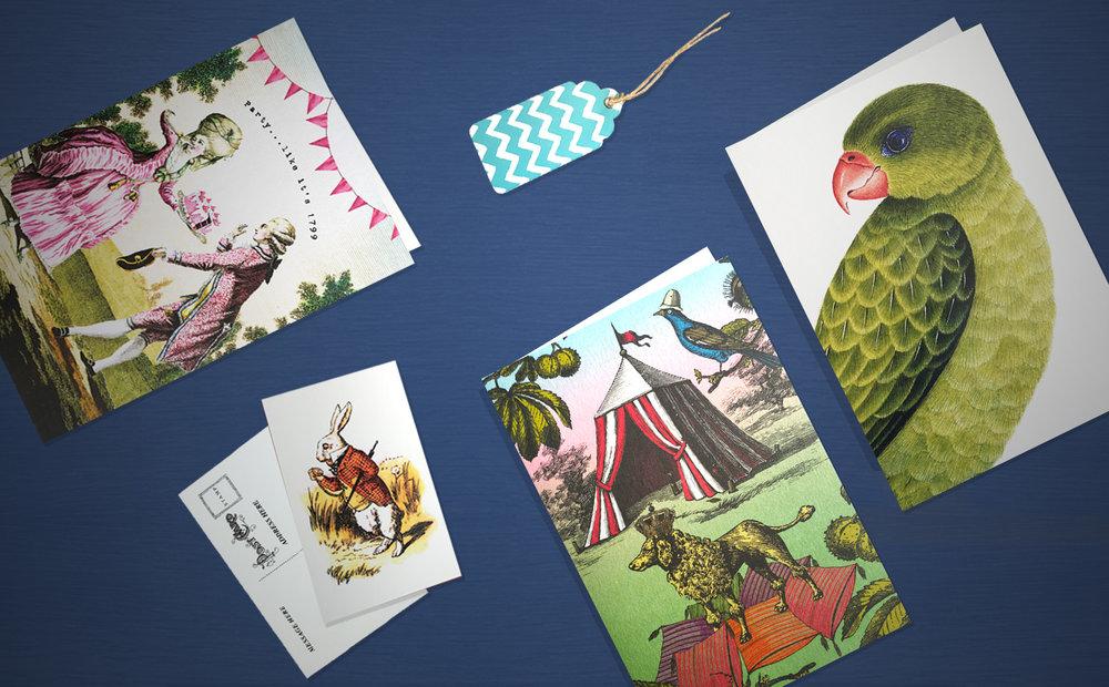 tarjetas con sobre - y tarjetones