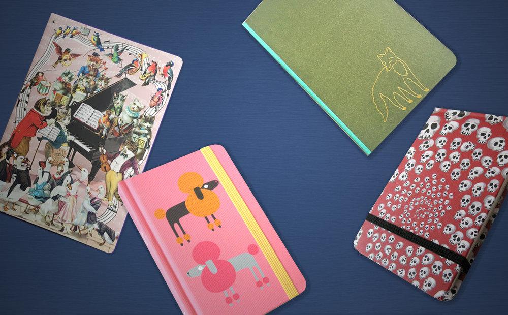 CUADERNOS - y libretas de escritura con mucho estilo en diseños y estampados muy originales