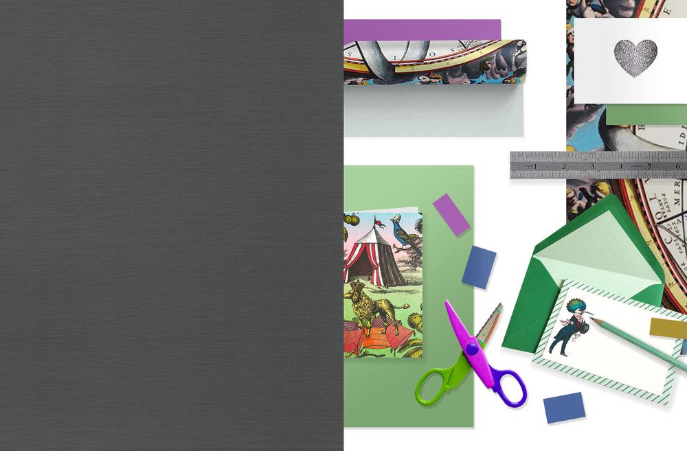 PAPERART - Para aquellos que se sienten artísticos y creativos, una gran colección de papeles junto con tarjetas y papelería muy arty para cada día