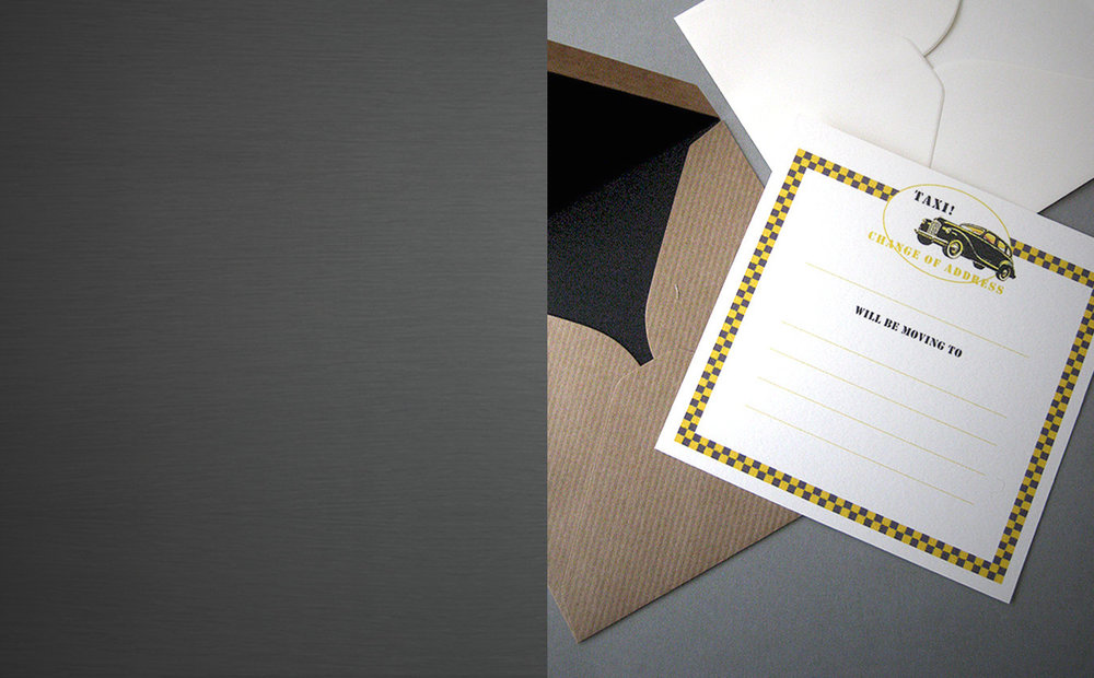 NEW ADDRESS - announcements and change of address cards in original and fun designs
