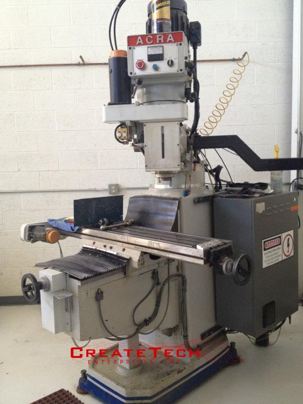Acra Knee Mill CNC