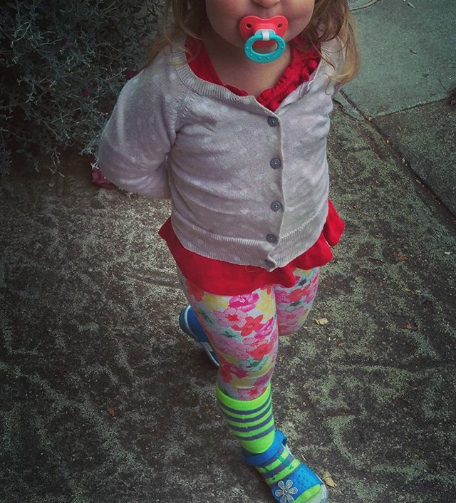 Today in Toddlerville the true embodiment of freedom was achieved in #fashion. It is certainly a magical outfit 🌌🔮🍀❤🙏🌞 #beyourself #love #funkytown #raveready #eclectic #stripedsocks #polkadots #playtime #happykid #humanelywild #icandressmyself