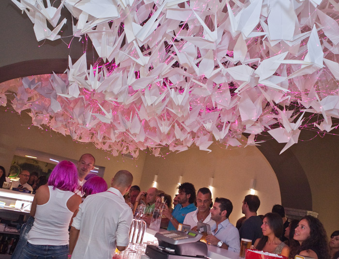Due Colonne_ Origami Flamingo Chandelier _ francesca signori