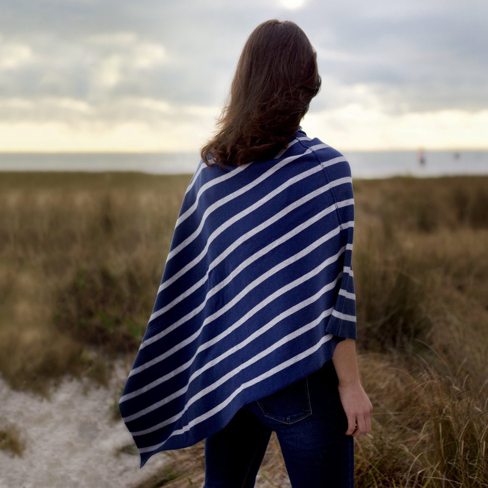 PIMA COTTON COLLECTION: Poncho Reversible - Deauville