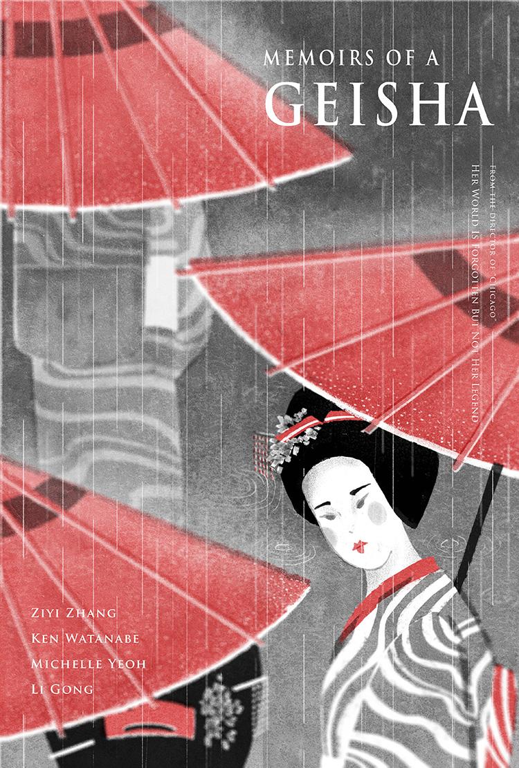 Memoirs of A Geisha movie poster set