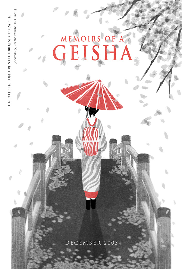Memoirs of A Geisha movie poster set