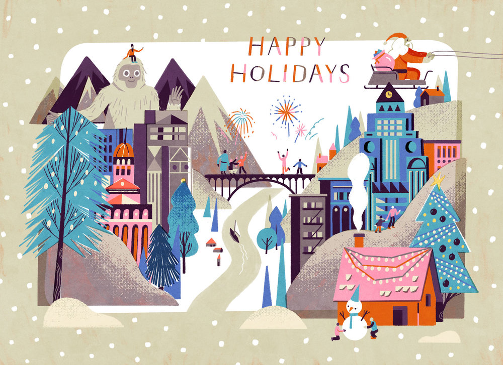 happy holidays card - Happy Holidays Card