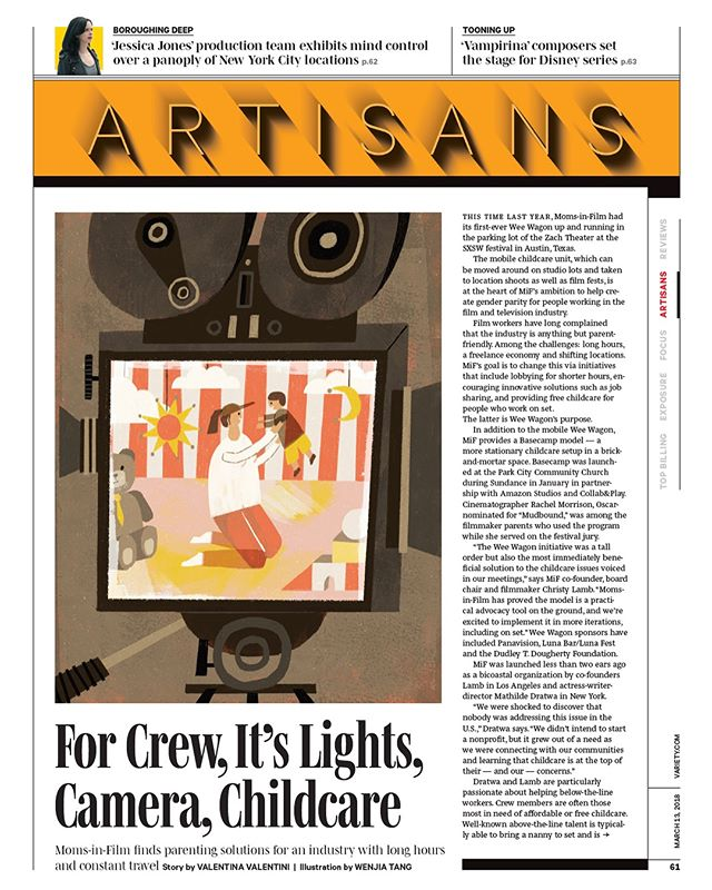 A quick one for Variety Magazine about childcare on the film set. Thanks AD Allison Cressey.