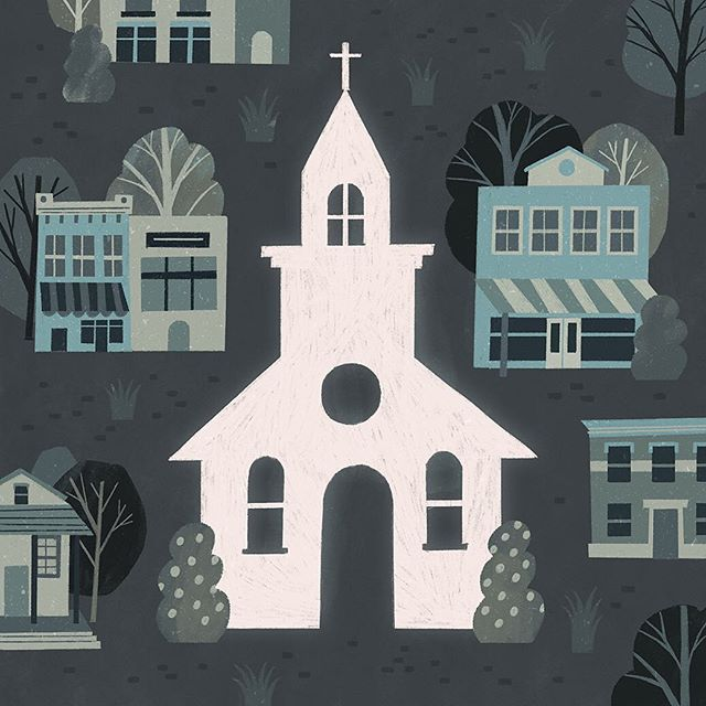 Spot illustration for byFaith Magazine about planting gospel churches in small towns. Thanks AD Tiffany Forrester.