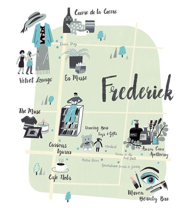 Frederick map illustration for Baltimore Magazine. Thanks AD Danielle Dernoga.