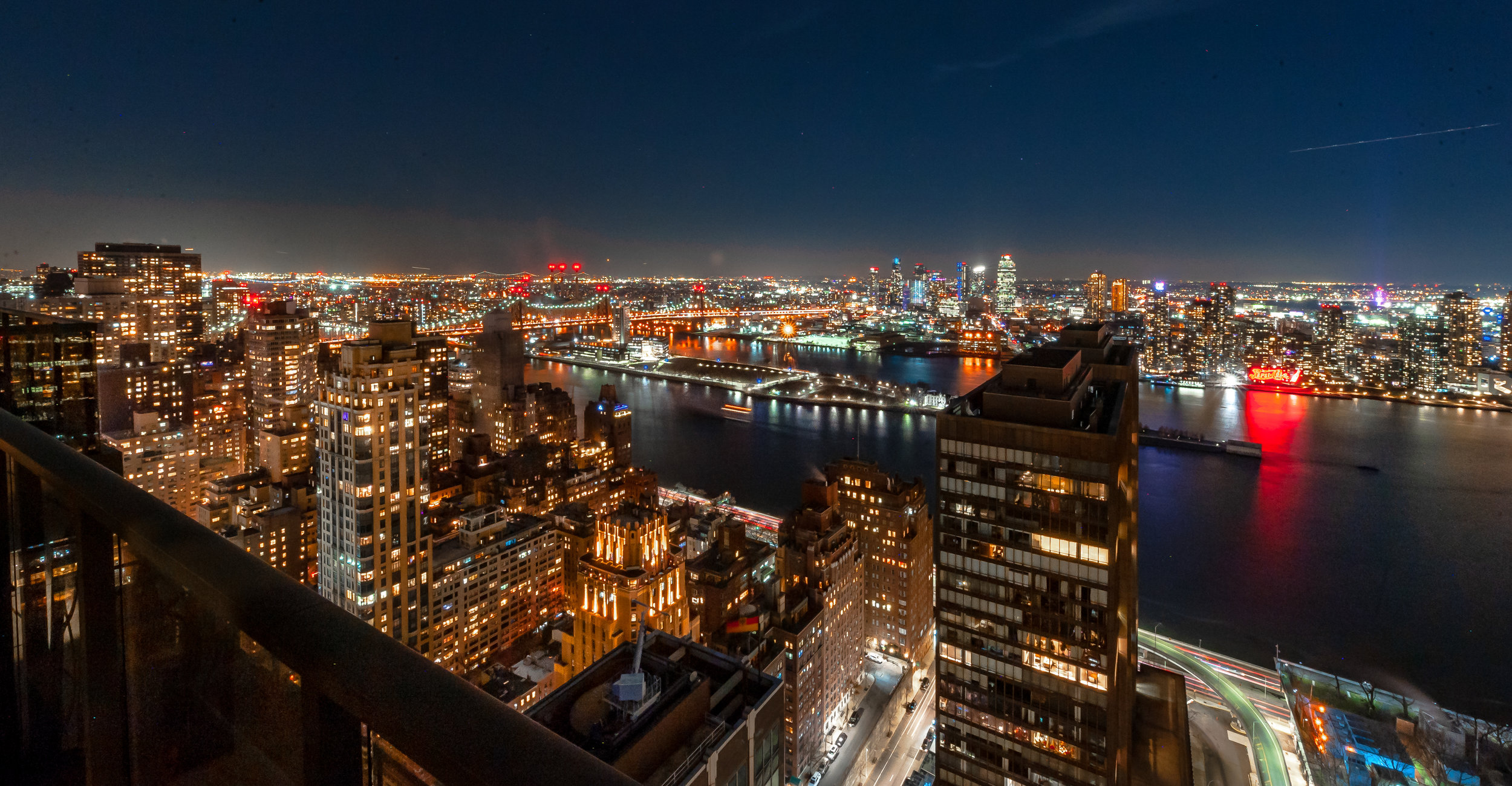 New York Skyline At Night Alan Barry Photography