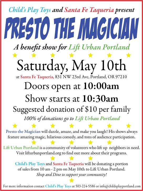 portland presto the magician