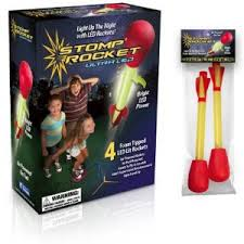 Stomp Rocket – Light Up!, Ages 8+ $22.99 (Refill Light-Up Rockets, 2 pack $7.99)