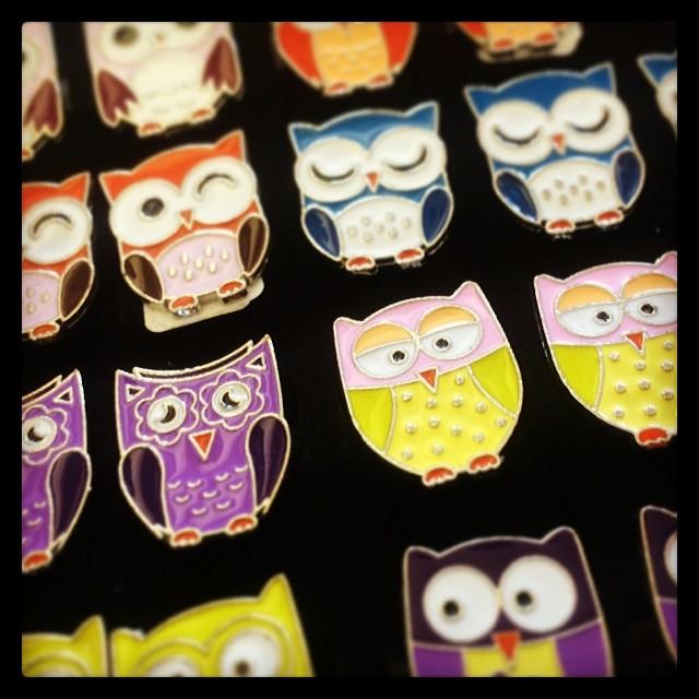 Owl Rings, adjustable $2.99