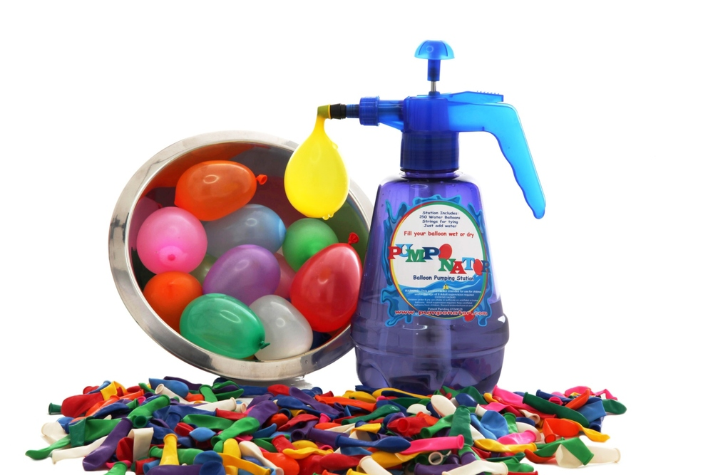 Pumponator: Water Balloon Pump, Ages 8+ $14.99, extra biodegradable water balloons $4.99 for a pack of 250