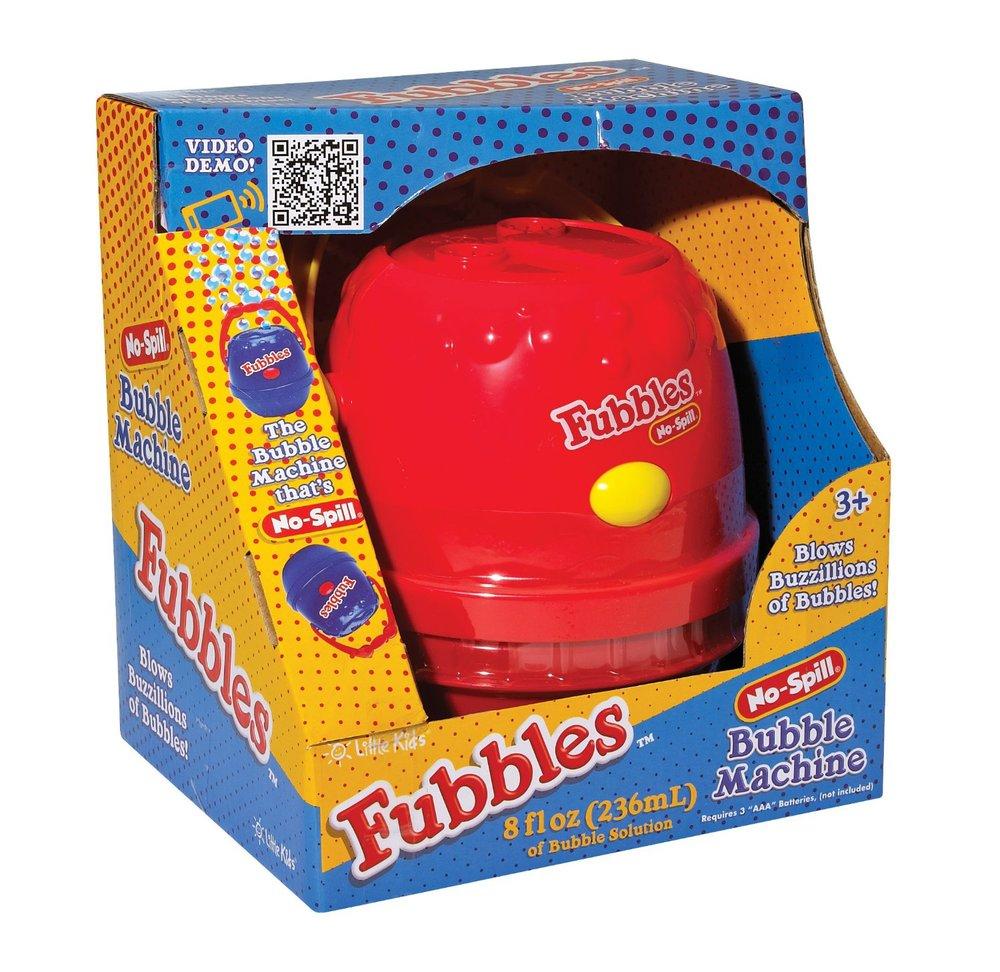 No-Spill Bubble Machine by Fubbles, Ages 3+ $17.99