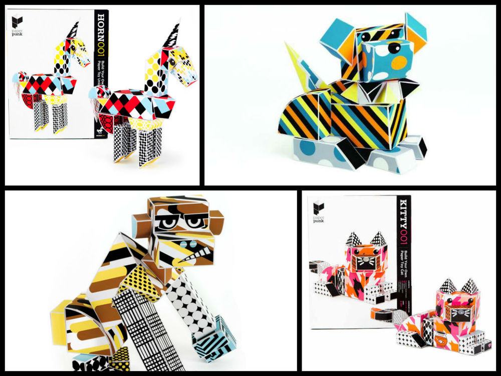 Paper Punk Toy Kits, builds 1 toy, Age 6+ $17.99