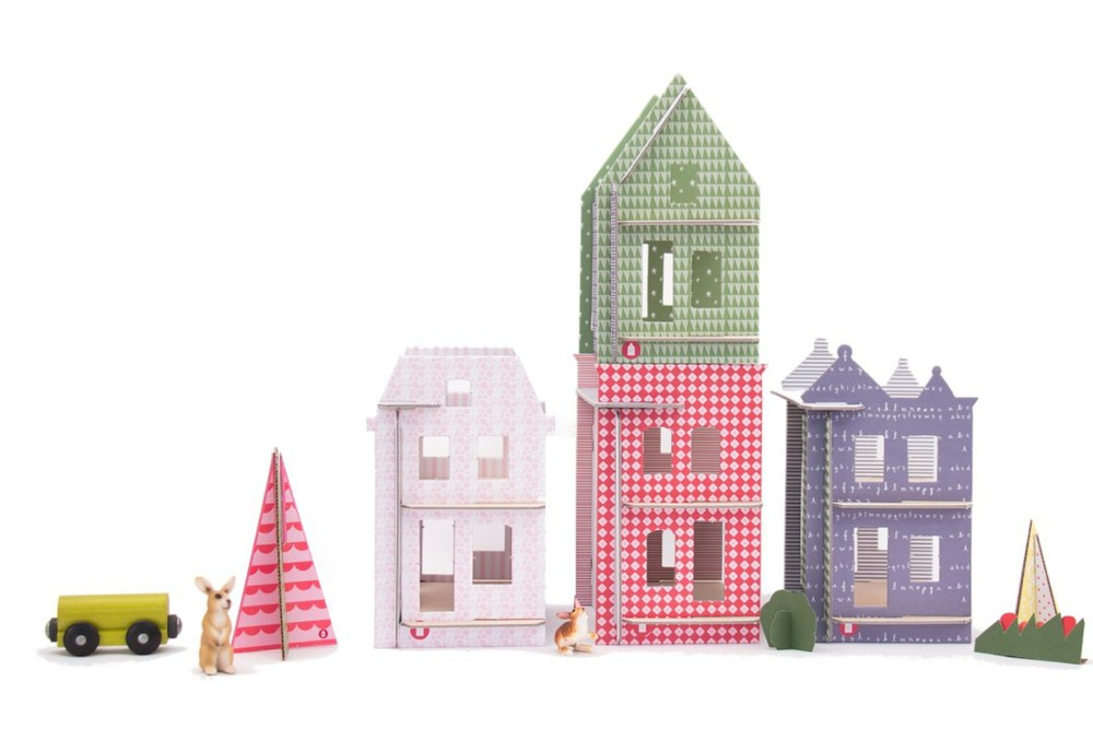 Lille Huset Paper Dollhouse City, Ages 5+ sale price, 35.99, full price $39.99