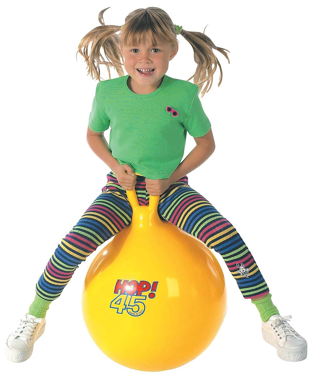 Hop Balls by Gymnic, Available in sizes 45 (Ages 5+) and 55 (Ages 7+)  $34.99