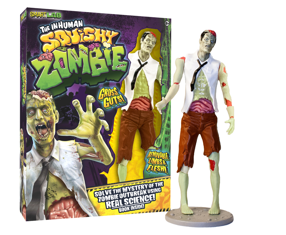 The Inhuman Squishy Zombie Lab, Ages 8+  $27.99