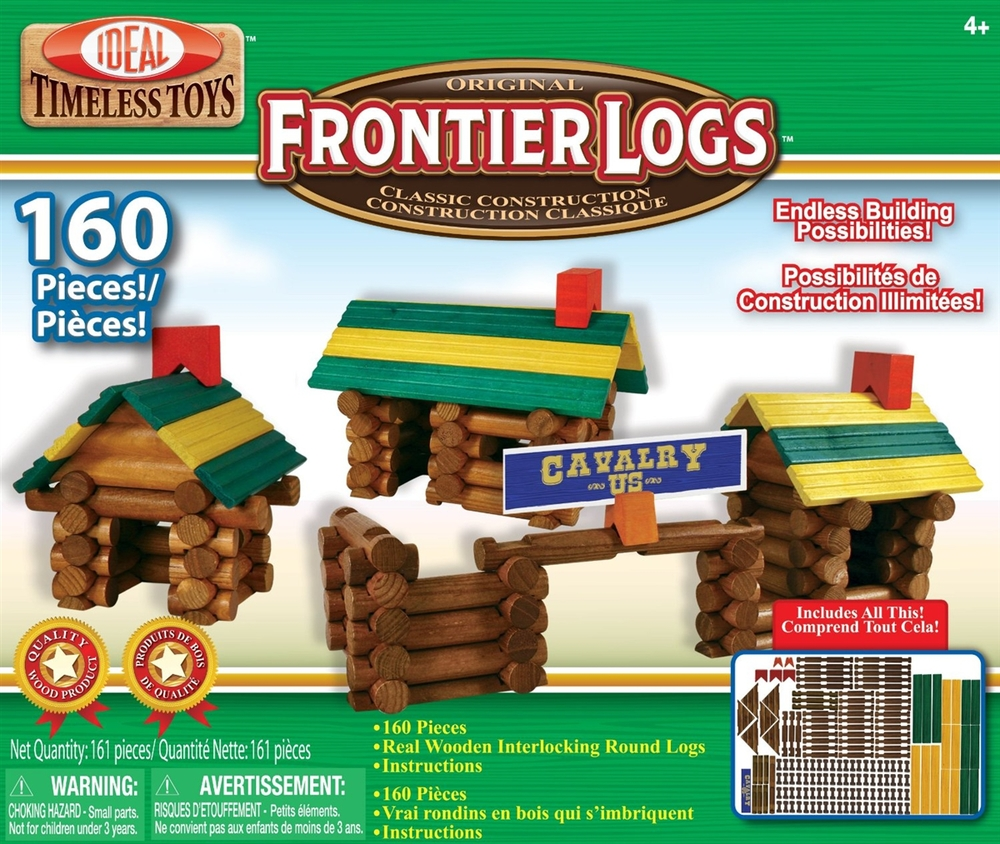Frontier Logs, 160 pieces, Ages 4+  $49.99