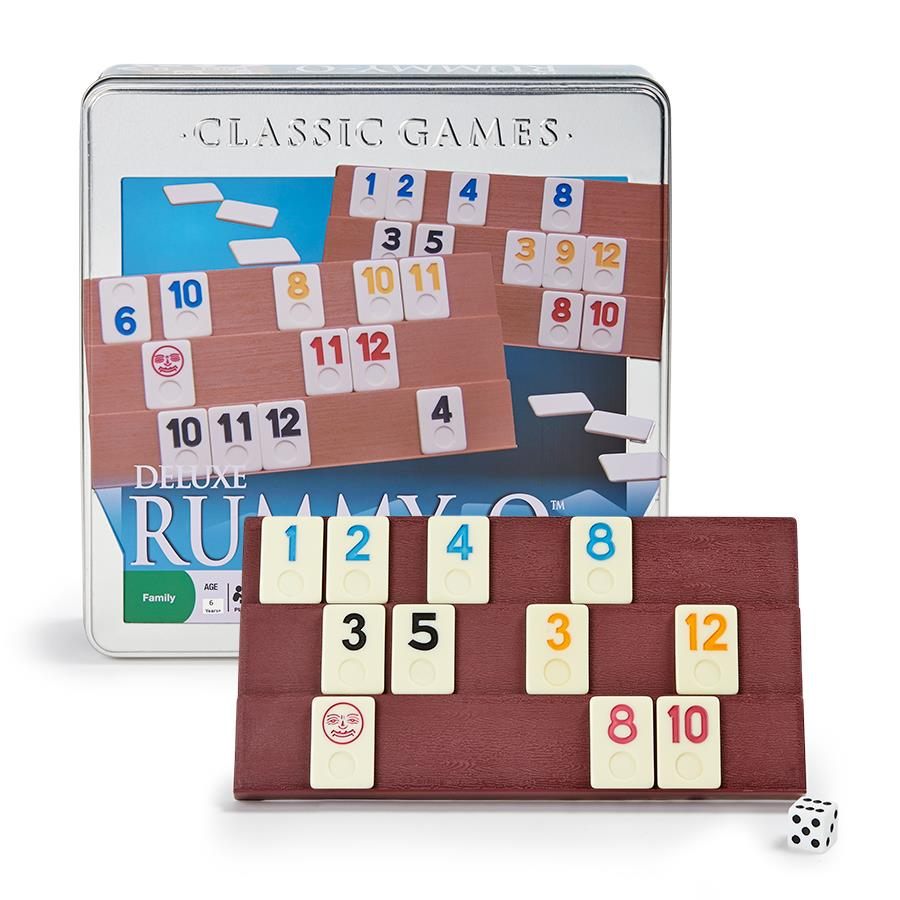Deluxe Rummy-O, Ages 6+  $17.99