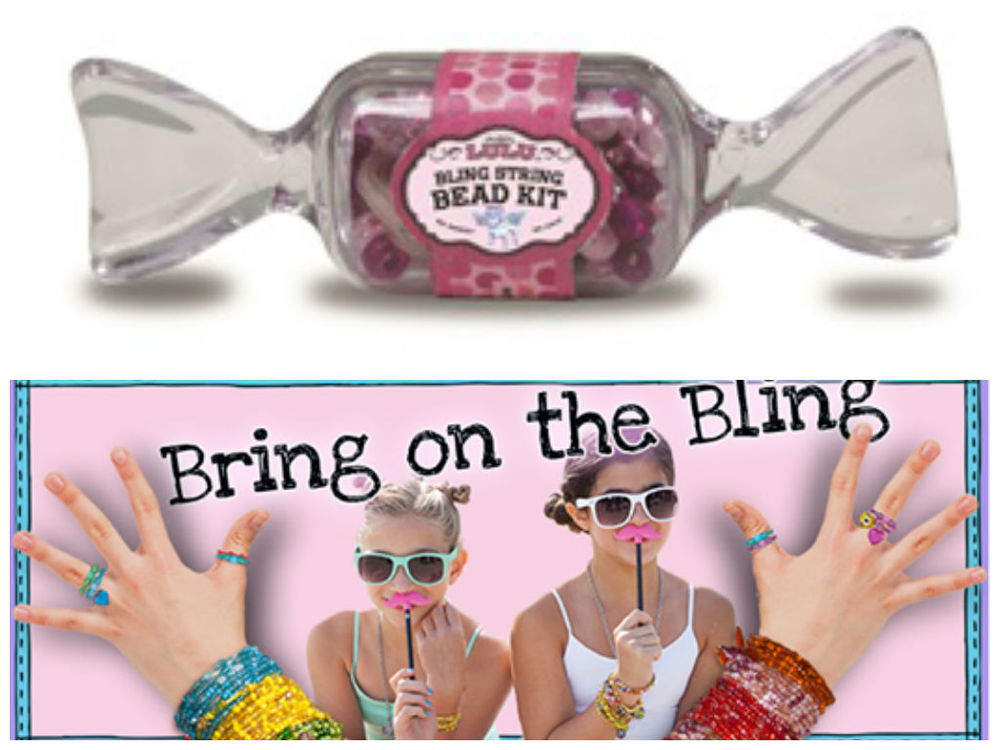Bling String Bead Kit, Ages 8+  $4.99
