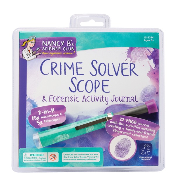 Crime Solver Scope & Forensic Activity Journal, Ages 8+  $17.99