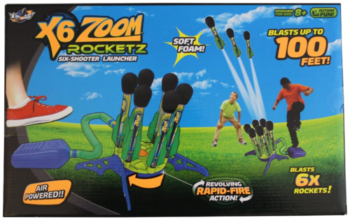X-6 Zoom Rocketz, Ages 8+  $29.99