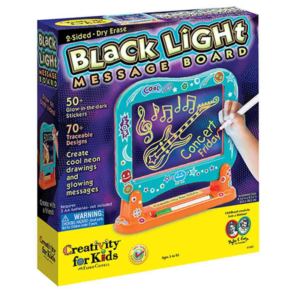 Black Light Message Board, Ages 5+  $24.99