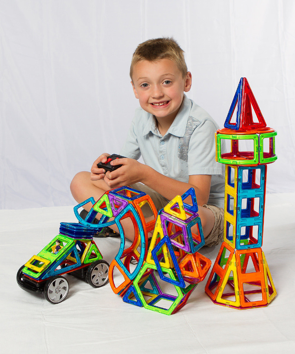 Magformers, Ages 3+  $24.99 for 14 piece set, $49.99 for 30 piece set, larger and smaller sets available.