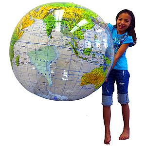 "36"" Inflatable Topographical Globe  $49.99"