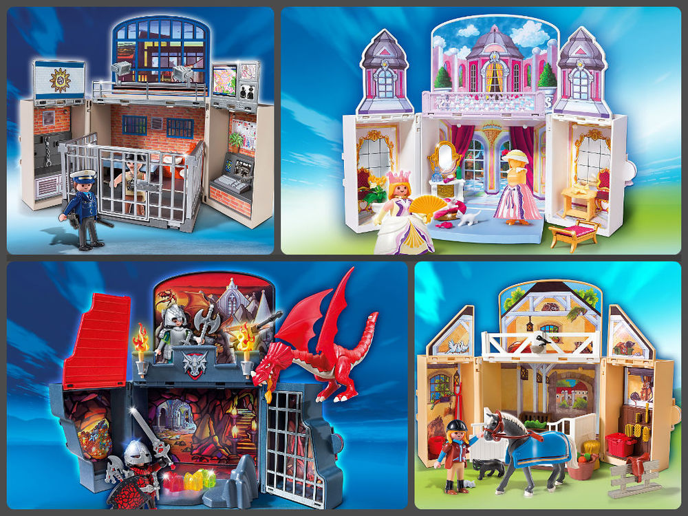 Playmobil Play Boxes, available in Police, Princess, Dragons and Country, Ages 4+  $27.99