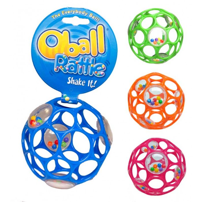 Oball, available with or without rattle, Ages 0 months+ $7.99