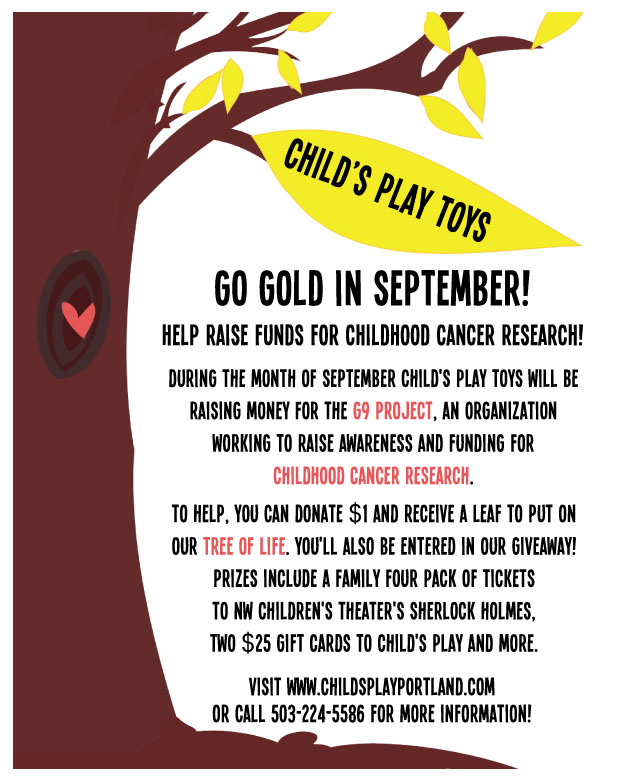 portland toys childhood cancer research